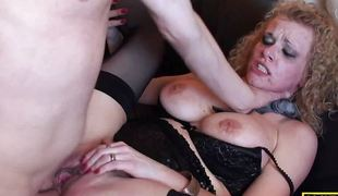 Dominated milf gets her pussy hammered