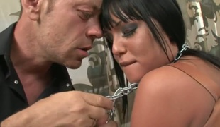 Angelica Heart loses control after Rocco Siffredi puts his rock solid dick in her face hole after anal fun