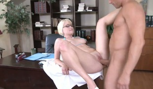 Billy Glide is one hard-dicked guy who loves banging Nora Skyy with smooth twat