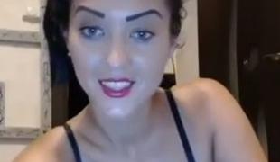 brunette lingerie strømper webkamera