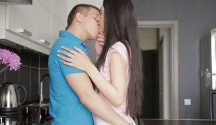 Exquisite girlfriend allows her beloved partner to screw her