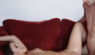 Hungarian sensation Amirah Adara is wildly fucking on the couch