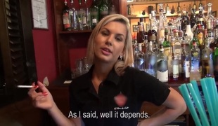 A barmaid teaches u how to screw her kind