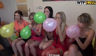 Abeila and Beatrice have a fun erotic party and pleases excited men