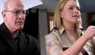 Hawt blond babe officer Krissy gets banged