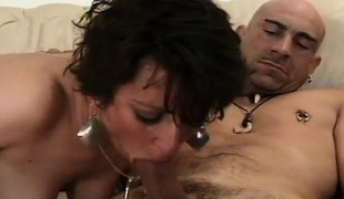 brunette oral hardcore store pupper blowjob