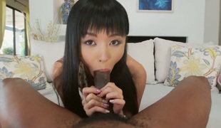 Marica Hase cant resist guys hard meat pole and takes it in her mouth
