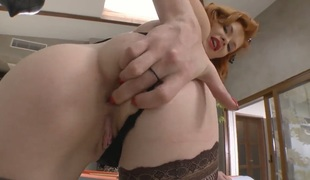 Lustful babe Tara White with huge jugs gets poked in her chocolate speedway by Rocco Siffredi