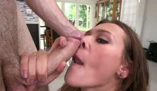 Callie Calypso asks her fuck buddy to shove his rock solid dick in her mouth