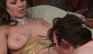 Mature lesbian mamas with large fake boobs fucking passionately