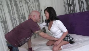 Using the cunt of this curvy Asian girl with wild passion