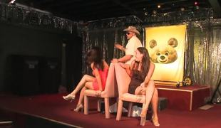 Lap dances for the amateur club girls from hot male strippers