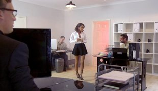 Chic in nylon stockings get banged doggystyle getting her moan noisily in a reality discharge