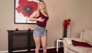 Cute golden-haired sweetie Brook Little gets absolutely undressed