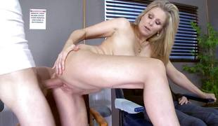 blonde milf blowjob sædsprut facial