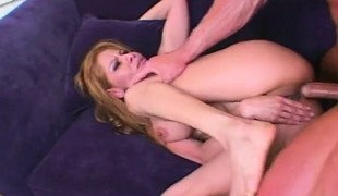 Spanish beauty with wonderful blow job skills receives her ass pounded rough