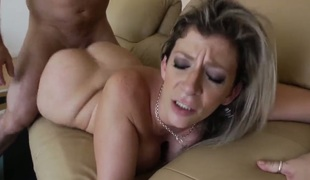 John Rock hard plays with enchanting Sara Jays fur pie before this guy fills her aperture with his throbbing worm
