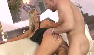 Will Powers drills ultra hawt Marley Blazes mouth just like mad after she gets fucked in her back porch