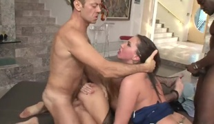 Kelly Divine with big tits is in heat in steamy oral act with Rocco Siffredi after anus sex