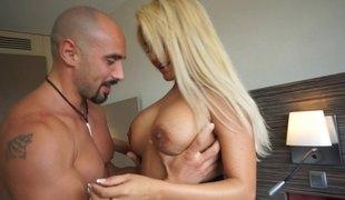 blonde langt hår hardcore latina par