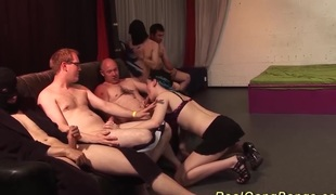 Cute german nubiles first bizarre gangbang bukkake fuck party orgy final weekend