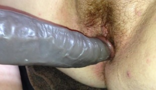 1st time welsh gf took  dildo