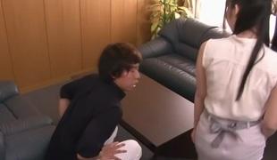 Amazing Japanese slut Aika Yumeno in Crazy JAV censored Cunnilingus, Large Tits video