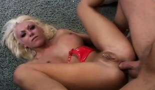 Big tit Victoria Spencer gets licked and a finger up her ass, then his dick