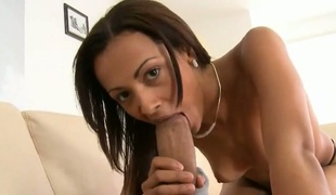 Brunette chicana Mitzy with big bottom demonstrates her wicked parts as she gets her eager ploughed nice and hard by horny as hell guy