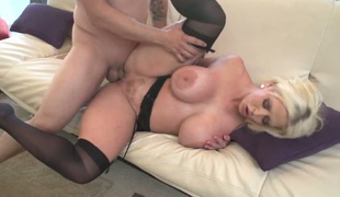 Anthony Rosano explores the depth of beautiful Alura Jensons throat with his dick