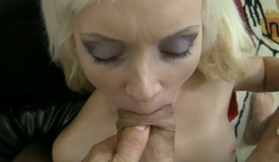Alluring blonde bimbo Dolly Spice is banged in doggy style