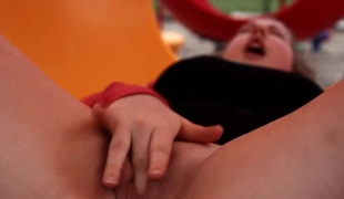 Masturbating in a playground