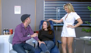 Best-looking nurse ever provides the chap with a stunning pussy