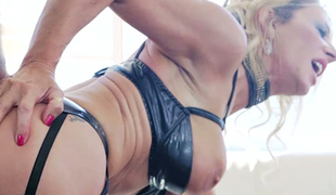 Freaky cuckold watched the way his delicious blond MILF Marina Beaulieu pleasured other dude