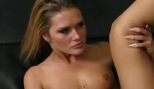 Leggy fair haired hottie Abby Cross had steamy sex with kinky buddy in locker room