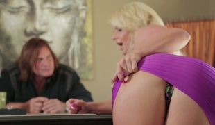 Blonde seductress with big tits Phoenix Marie nailed well