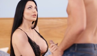Divine busty MILF Aletta Ocean receives her juciy twat poked well