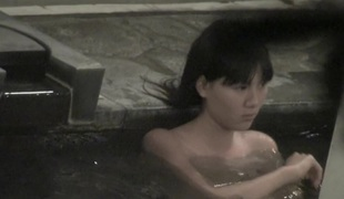 Asian diminutive titties seen through the pool water on spy cam nri049 00