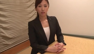 Amazing Japanese wench Anna Noma in Exotic cougar, pov JAV movie scene