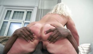 Old woman fucked by a black man