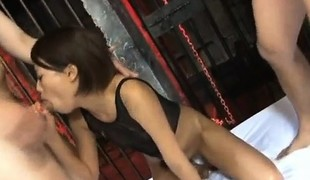 Miku Misato with hawt butt sucks tool whilst getting other in