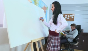 TrickyOldTeacher - Simona and her tricky old teacher have awesome hardcore sex after class