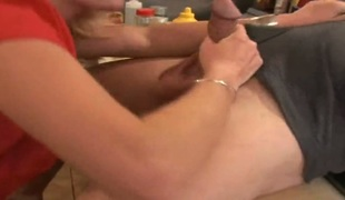 barbert blonde hardcore deepthroat blowjob