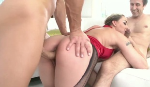 Steve Holmes gives prettied up Delilah Strongs anal opening a try in hardcore action after she gives deep oral-sex