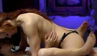 Kinky lesbo bitches fuck like feisty using big strapon
