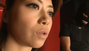 Lustful wet cum-hole Oriental squirts on a corpulent knob when inserted
