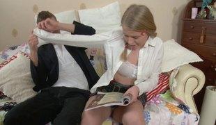 tenåring blonde hardcore russisk par