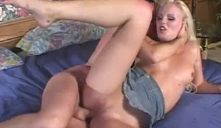 Black haired wanton bitch Ariana Jollee enjoys nasty 3 some with spoiled blond filth and kinky stud