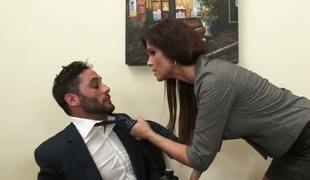 Provocative MILF with fake boobs Syren De Mer fucked hard in office